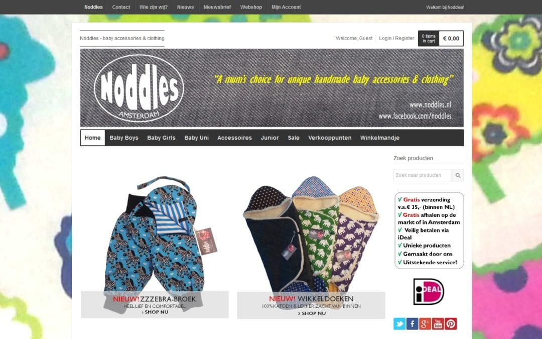 Noddles – fashion webshop voor baby's en kids