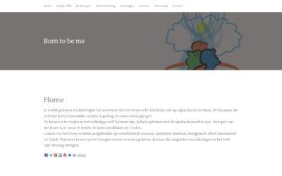 Born to be me – website voor therapeutische praktijk