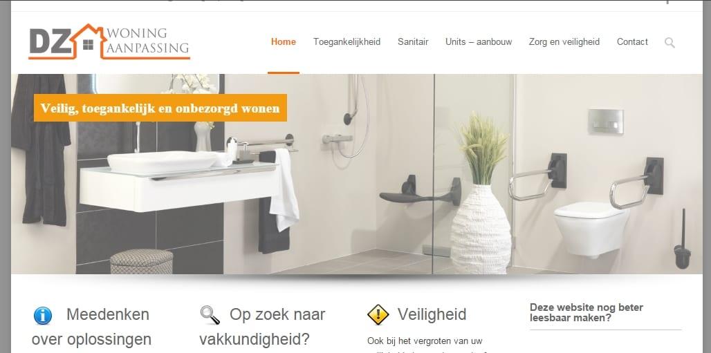DZ Woningaanpassing – ZZP website bouwsector