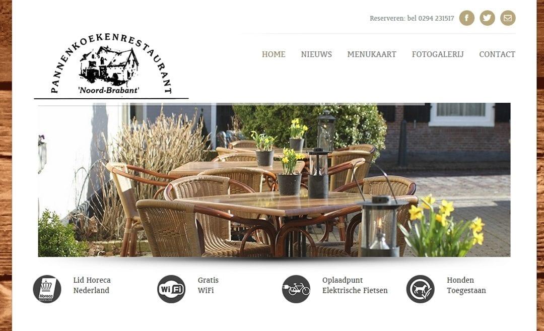 Pannenkoekenrestaurant Noord-Brabant – horeca website