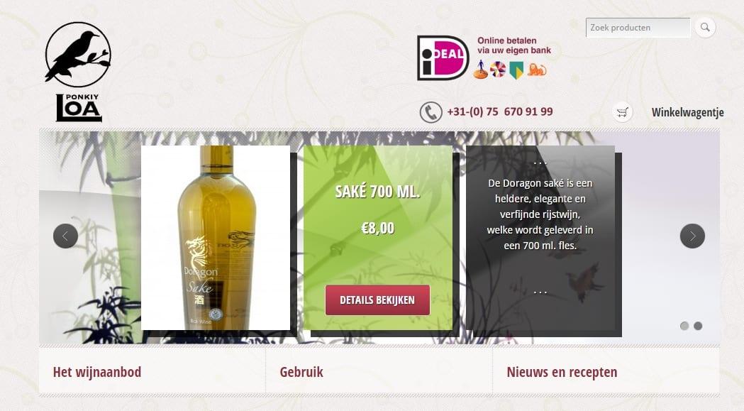 Ponkiy Loa – webshop voor wijnen met een Chinees karakter