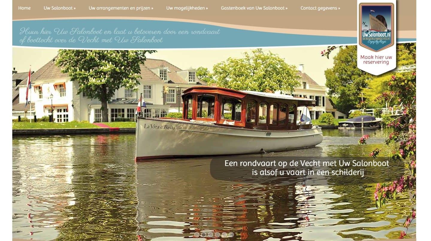 Uw Salonboot - Travel en horeca website