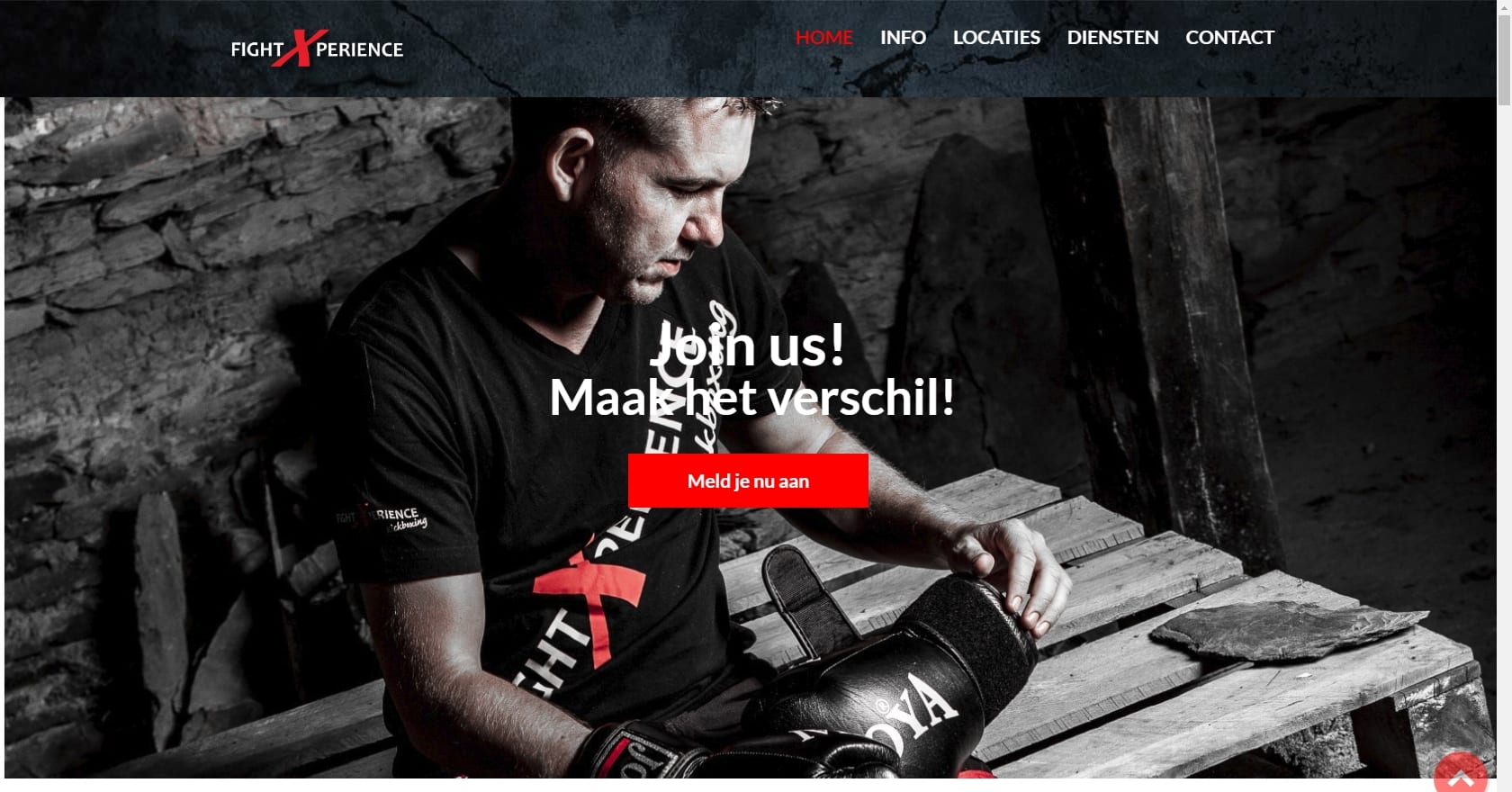 FightXperience - website voor sportschool - redesign