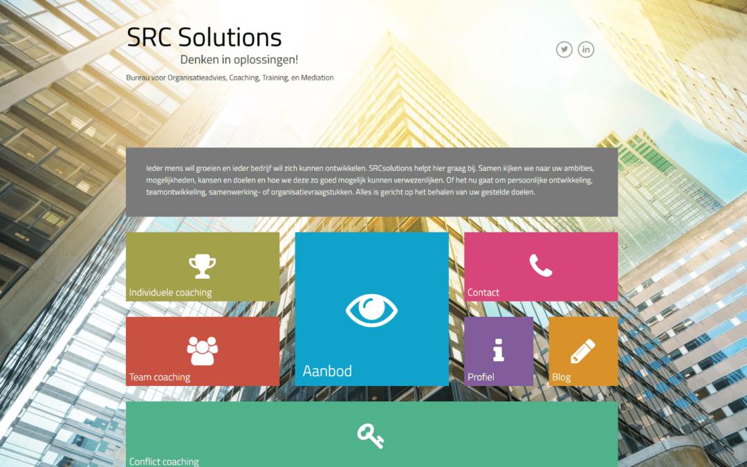 SRC Solutions – website voor een organisatiebureau