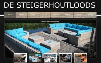 De Steigerhoutloods – website voor een meubelmaker