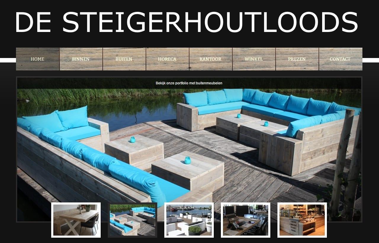 De Steigerhoutloods - website voor een meubelmaker