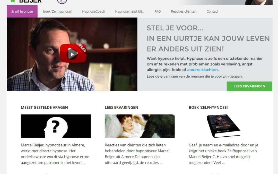 Ikwilhypnose.nl – website voor een hypnotherapeut – redesign