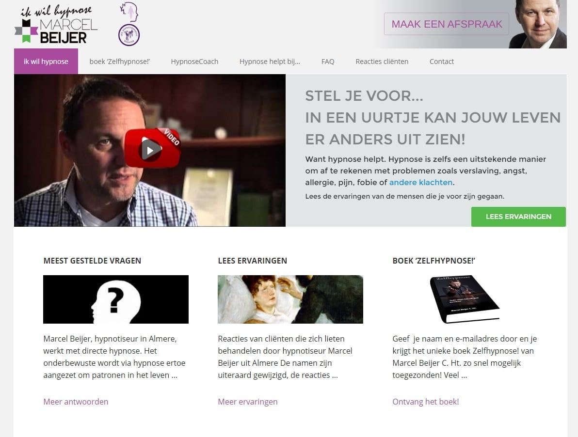 Ikwilhypnose.nl - website voor een hypnotherapeut - redesign