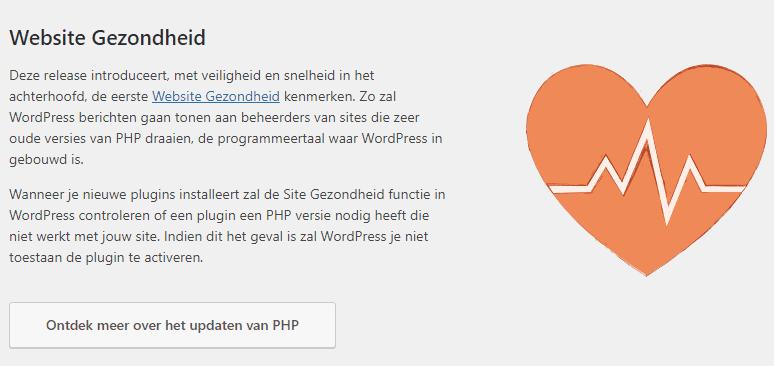 WordPress kiest ook voor gezondheid