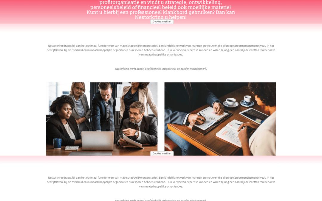Nestorkring – website voor een stichting