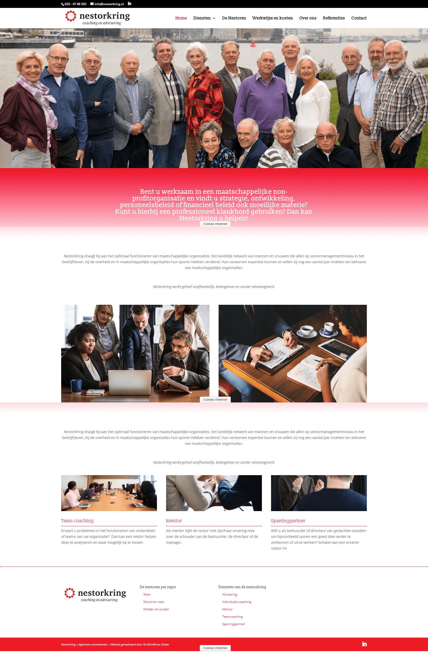 Nestorkring - website voor een stichting