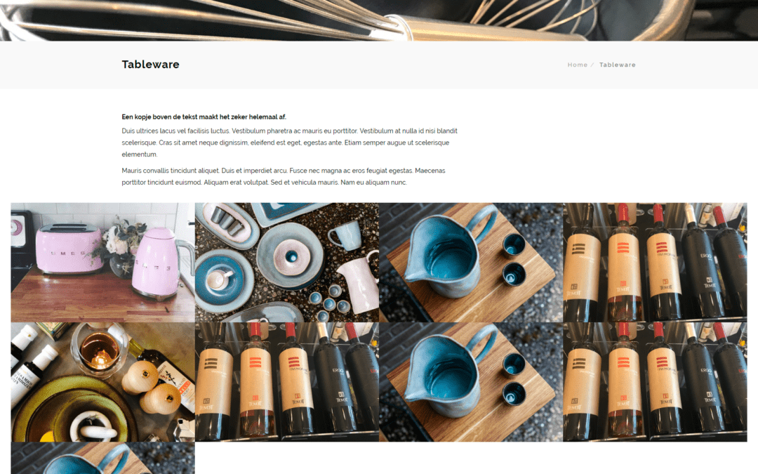 In My Kitchen – webwinkel voor kook en woonwinkel