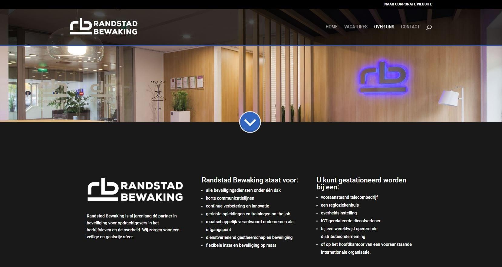 Werken bij Randstad Bewaking - een vacature site
