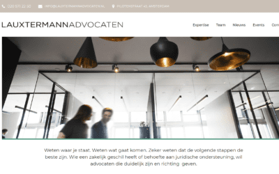 Lauxtermann – Website voor advocatenkantoor