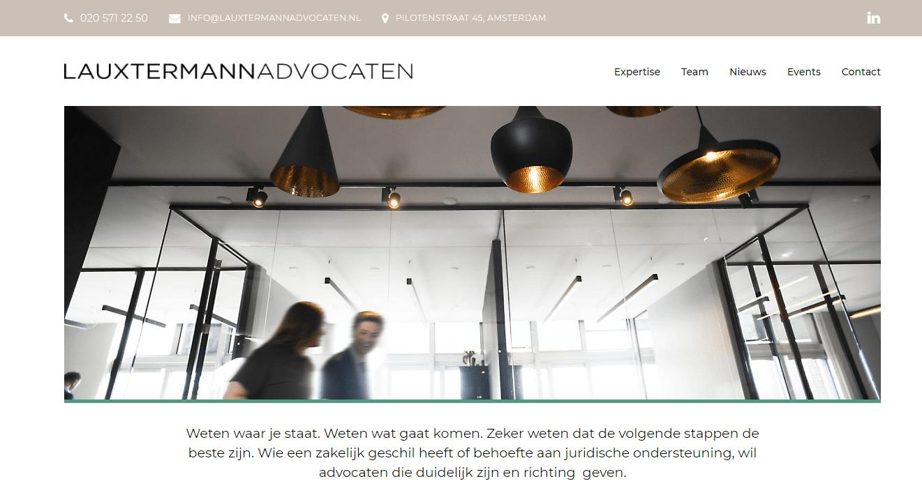 Lauxtermann - Website voor advocatenkantoor
