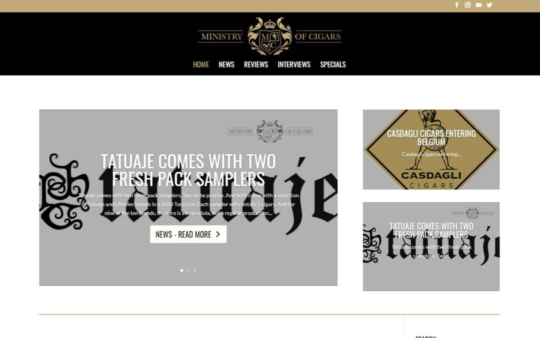 Ministry of cigars – een blogsite