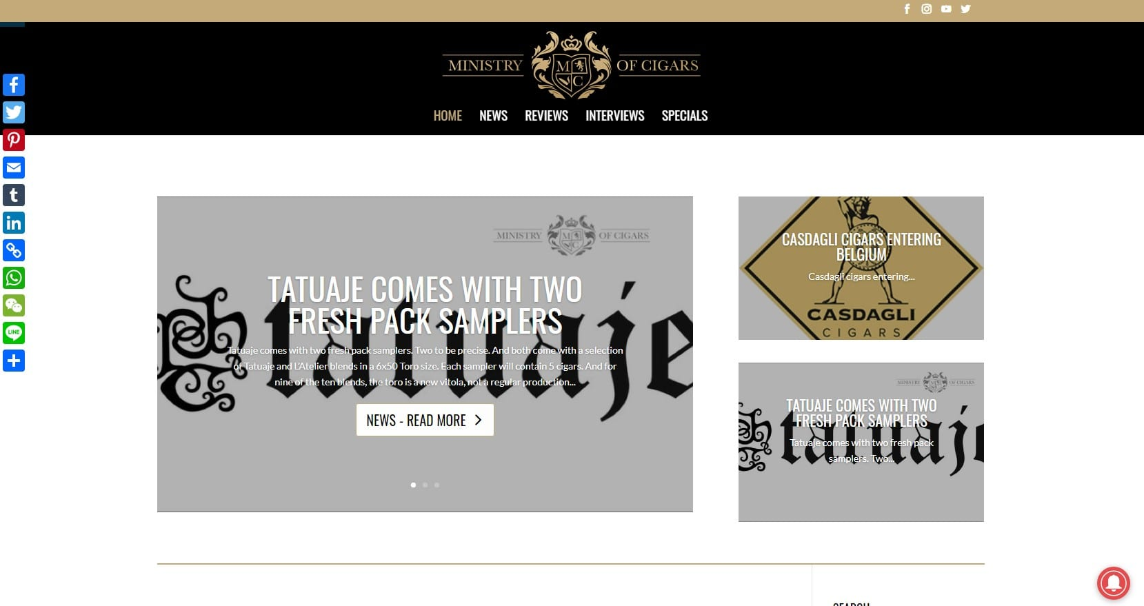 Ministry of cigars - een blogsite