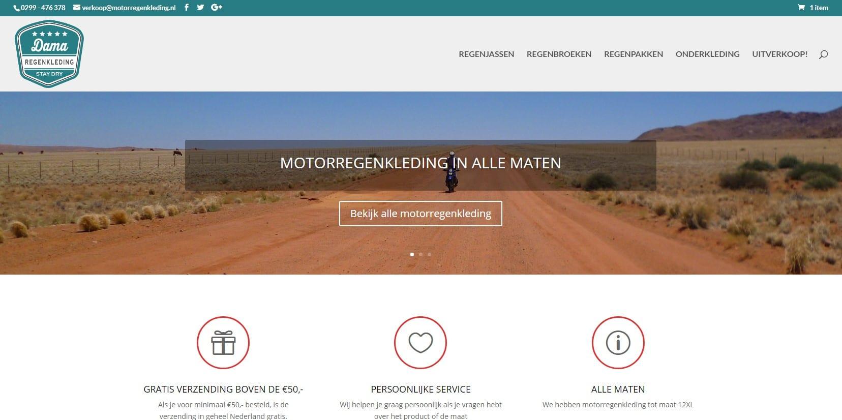 Dama regenkleding - een webshop voor motorkleding
