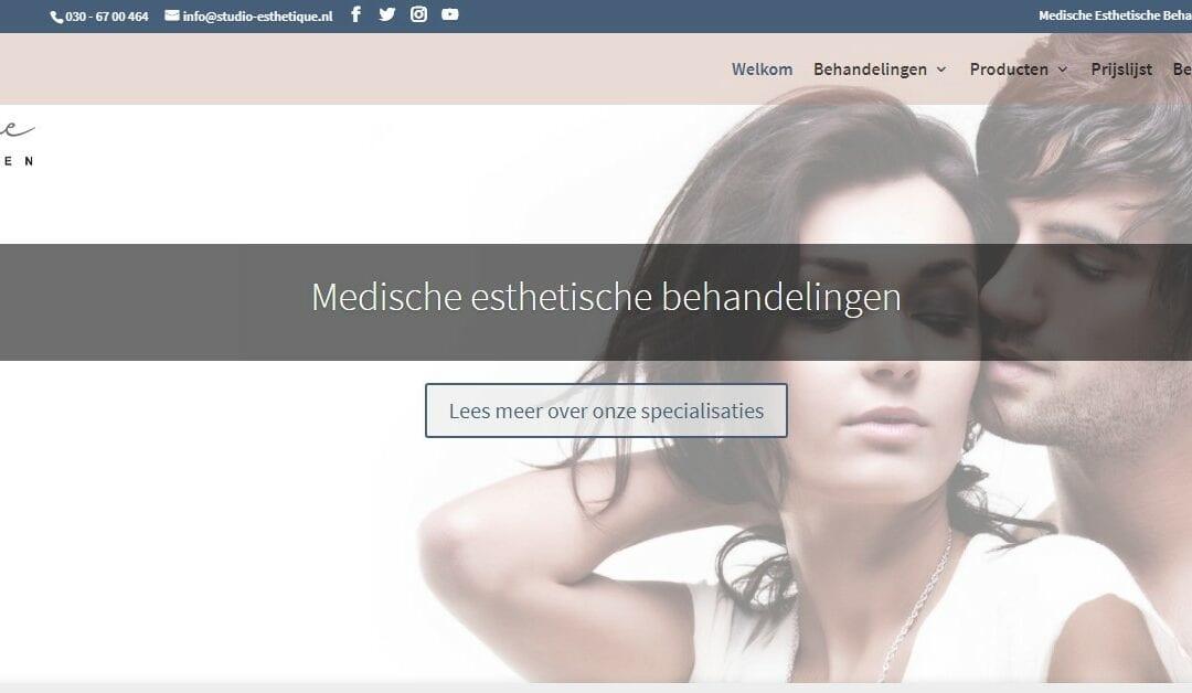 Studio Esthetique – een website voor medisch esthetische behandelingen