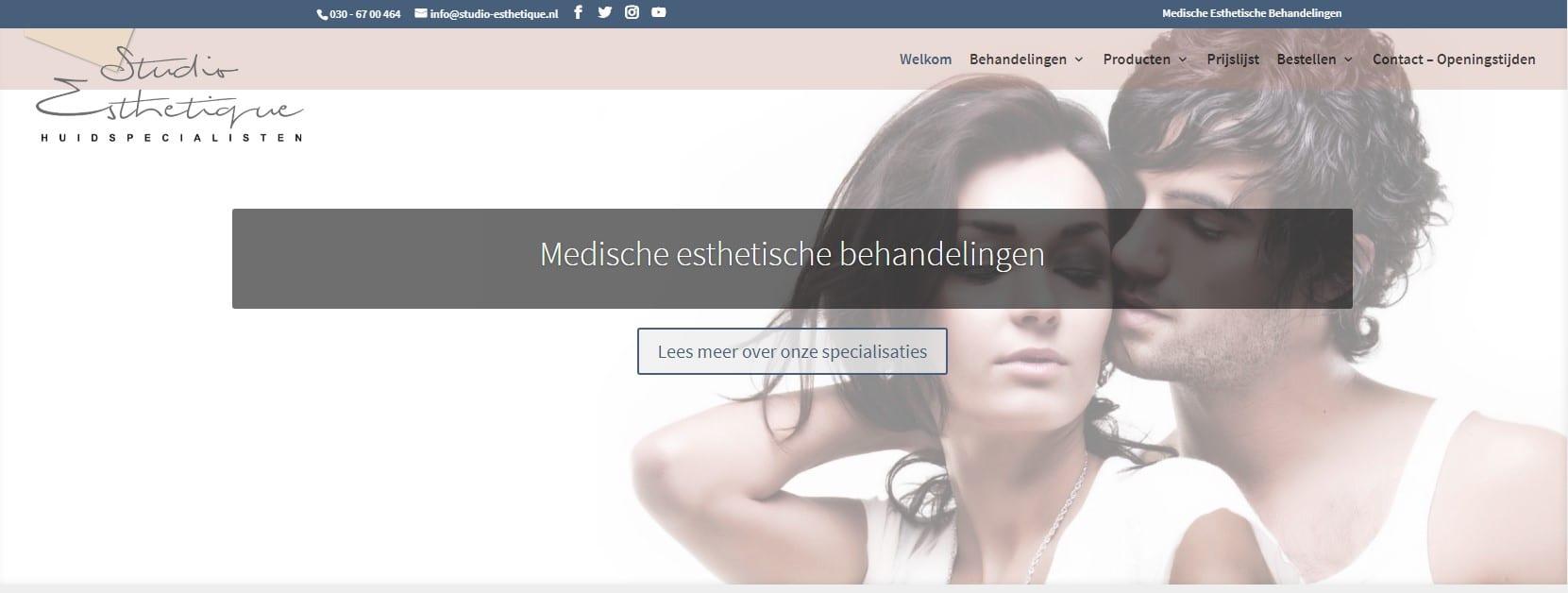 Website voor medisch esthetische behandelingen