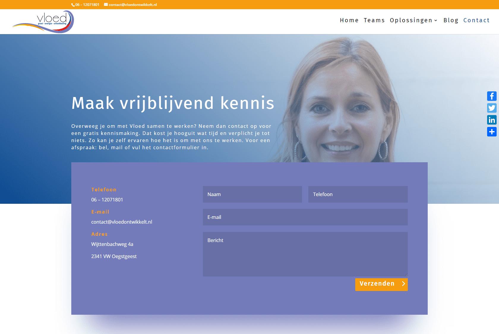Website voor teamcoaching